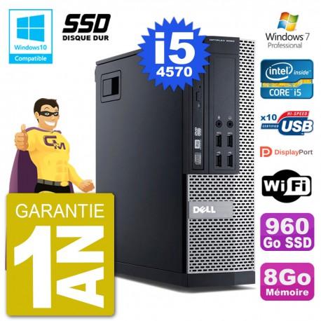 PC Dell 9020 SFF Intel i5-4570 RAM 8Go SSD 960Go Graveur DVD Wifi W7