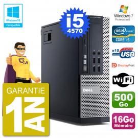 PC Dell 9020 SFF Intel i5-4570 RAM 16Go Disque 500Go Graveur DVD Wifi W7
