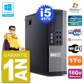 PC Dell 9020 SFF Intel i5-4570 RAM 16Go Disque 1To Graveur DVD Wifi W7