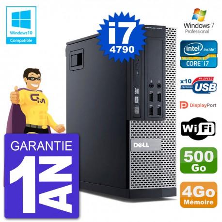 PC Dell 9020 SFF Intel i7-4790 RAM 4Go Disque 500Go Graveur DVD Wifi W7