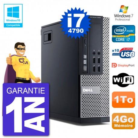 PC Dell 9020 SFF Intel i7-4790 RAM 4Go Disque 1To Graveur DVD Wifi W7