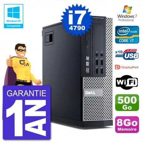 PC Dell 9020 SFF Intel i7-4790 RAM 8Go Disque 500Go Graveur DVD Wifi W7