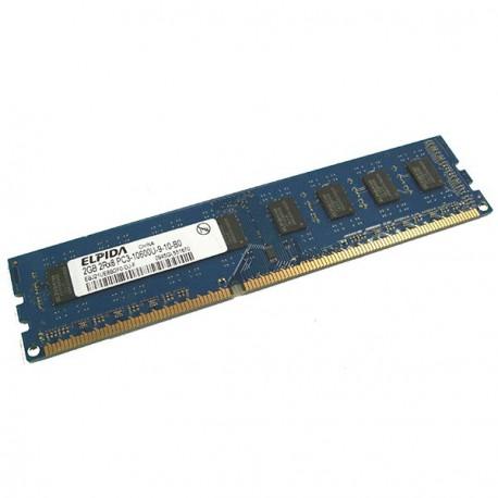2Go RAM PC Bureau ELPIDA EBJ21UE8BDF0-DJ-F DDR3 PC3-10600U 1333Mhz CL9 2Rx8