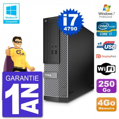PC Dell 3020 SFF Intel i7-4790 RAM 4Go Disque 250Go Graveur DVD Wifi W7