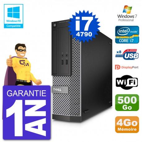 PC Dell 3020 SFF Intel i7-4790 RAM 4Go Disque 500Go Graveur DVD Wifi W7