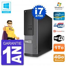 PC Dell 3020 SFF Intel i7-4790 RAM 4Go Disque 1To Graveur DVD Wifi W7
