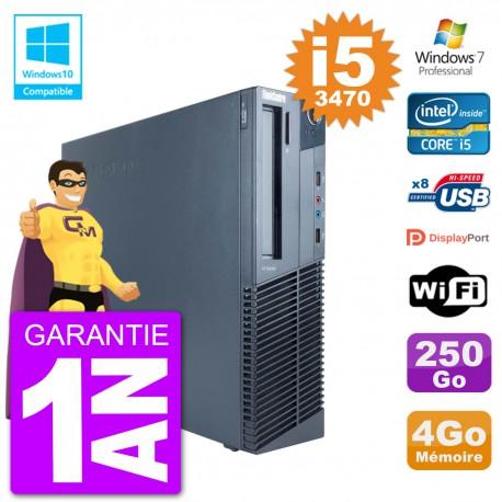 PC Lenovo ThinkCentre M82 SFF i5-3470 RAM 4Go Disque 250Go Graveur DVD Wifi W7