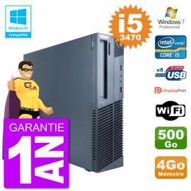PC Lenovo ThinkCentre M82 SFF i5-3470 RAM 4Go Disque 500Go Graveur DVD Wifi W7