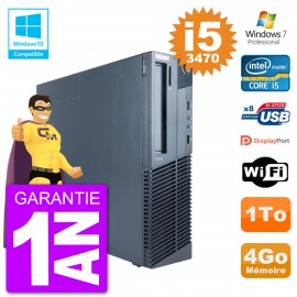 PC Lenovo ThinkCentre M82 SFF i5-3470 RAM 4Go Disque Dur 1To Graveur DVD Wifi W7