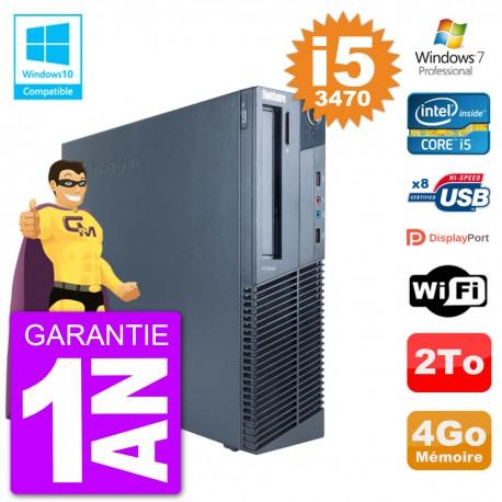 PC Lenovo ThinkCentre M82 SFF i5-3470 RAM 4Go Disque Dur 2To Graveur DVD Wifi W7