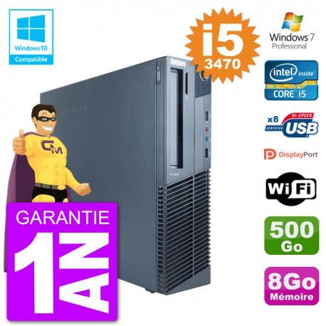 PC Lenovo ThinkCentre M82 SFF i5-3470 RAM 8Go Disque 500Go Graveur DVD Wifi W7