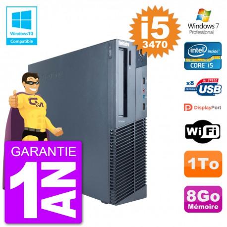 PC Lenovo ThinkCentre M82 SFF i5-3470 RAM 8Go Disque Dur 1To Graveur DVD Wifi W7