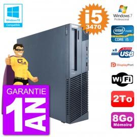 PC Lenovo ThinkCentre M82 SFF i5-3470 RAM 8Go Disque Dur 2To Graveur DVD Wifi W7