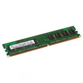 Ram Barrette Mémoire SAMSUNG 1Go DDR2 PC2-5300U 667Mhz M378T2863QZS-CE6 CL5
