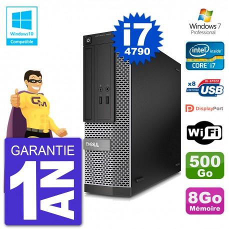 PC Dell 3020 SFF Intel i7-4790 RAM 8Go Disque 500Go Graveur DVD Wifi W7
