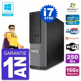 PC Dell 3020 SFF Intel i7-4790 RAM 16Go Disque 250Go Graveur DVD Wifi W7