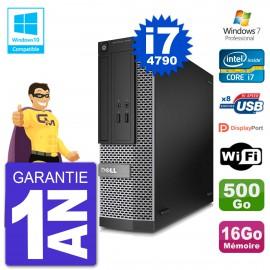 PC Dell 3020 SFF Intel i7-4790 RAM 16Go Disque 500Go Graveur DVD Wifi W7