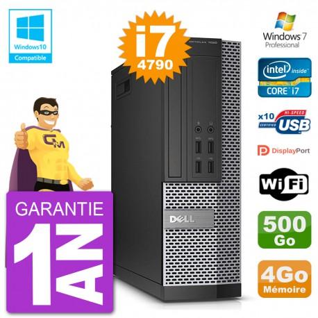 PC Dell 7020 SFF Intel i7-4790 RAM 4Go Disque 500Go Graveur DVD Wifi W7