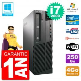 PC Lenovo ThinkCentre M82 SFF i7-2600 RAM 4Go Disque 250Go Graveur DVD Wifi W7