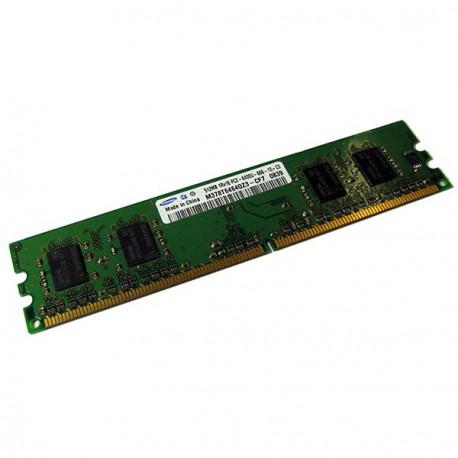 Ram Barrette Mémoire SAMSUNG 512Mo DDR2 PC2-6400U 800Mhz M378T6464QZ3-CF7 CL6