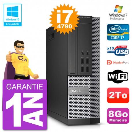 PC Dell 7020 SFF Intel i7-4790 RAM 8Go Disque 250Go Graveur DVD Wifi W7