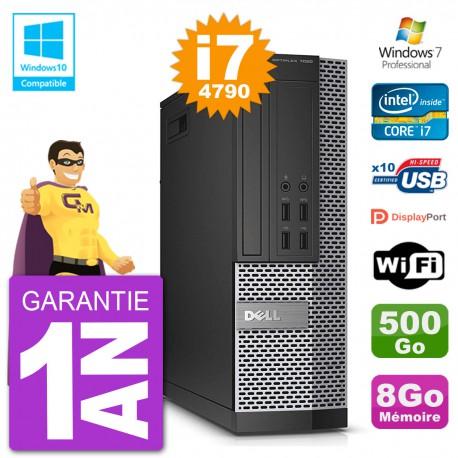 PC Dell 7020 SFF Intel i7-4790 RAM 8Go Disque 500Go Graveur DVD Wifi W7