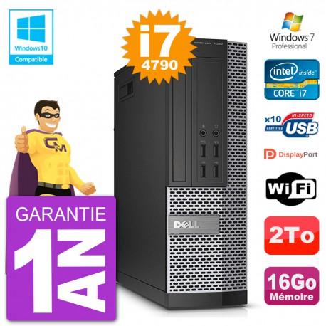 PC Dell 7020 SFF Intel i7-4790 RAM 16Go Disque 2To Graveur DVD Wifi W7