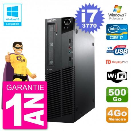 PC Lenovo ThinkCentre M82 SFF i7-3770 RAM 4Go Disque 500Go Graveur DVD Wifi W7