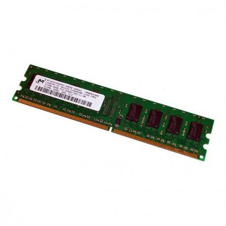 Ram Barrette Mémoire MICRON 512Mo DDR2 PC2-3200U 400Mhz MT16HTF6464AY-40EB2 CL3