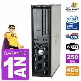 PC DELL 380 DT Intel E8400 RAM 4Go Disque 250Go Graveur DVD Wifi Windows XP Pro