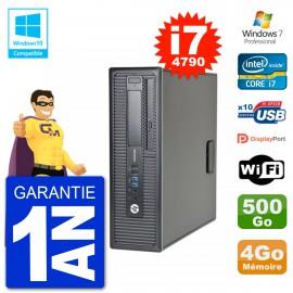 PC HP EliteDesk 800 G1 SFF i7-4790 RAM 4Go Disque 500Go Graveur DVD Wifi W7