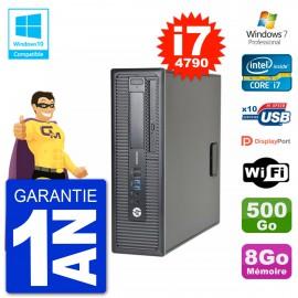 PC HP EliteDesk 800 G1 SFF i7-4790 RAM 8Go Disque 500Go Graveur DVD Wifi W7