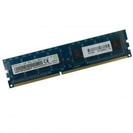 4Go RAM Ramaxel RMR5030EB68F9W DDR3 PC3-12800U 1Rx8 1600Mhz 240Pin PC Bureau