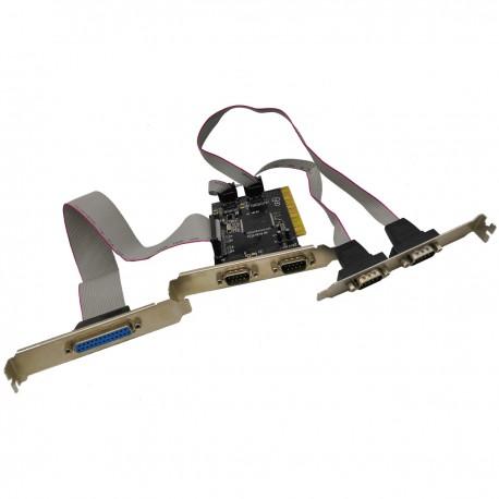 Carte contrôleur Espada FG-PIO954-4S1P-A1-01-UC01 PCI 4x COM9M LPT25F
