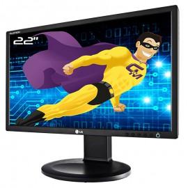 """Ecran PC 22"""" LG Flatron E2211PU-BN E2211PUX LCD TFT TN VGA DVI-D USB 16:9 VESA"""