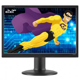 "Ecran PC 22"" iiyama B2280WSD-B1 LCD TFT TN VGA DVI-D Audio 16:10 WideScreen VESA"