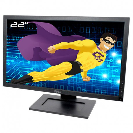"Ecran Plat PC 21.5"" Dell E2210Hc 0D553R D553R LCD TFT TN VGA DVI-D 16:9 Wide"