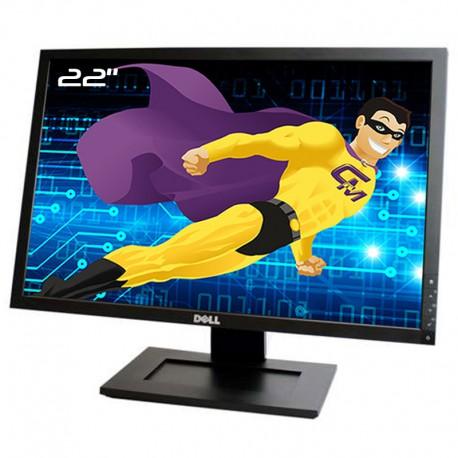 """Ecran Plat PC 22"""" Dell E2209Wf 0W631F W631F LCD TFT VGA DVI-D 16:10 WideScreen"""
