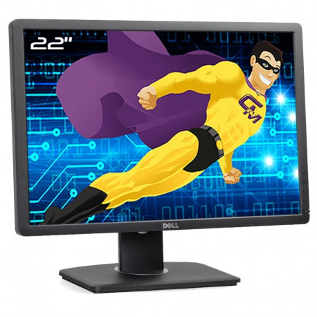 "Ecran PC 22"" Dell P2213t 0Y57VF Y57VF LED TFT TN VGA DVI-D Display USB 16:10"