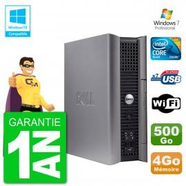 PC DELL 760 USFF Intel E7500 RAM 4Go Disque Dur 500Go Graveur DVD Wifi Windows 7