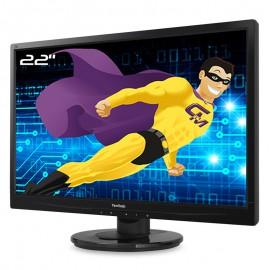 """Ecran PC 22"""" ViewSonic VA2246-LED VS15451 VGA DVI-D 16:9 Full HD VESA WideScreen"""