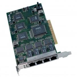 Carte Réseau Serveur D-Link DFE-570TX 8PCI005TX4A1 PCI 4x RJ-45 10/100