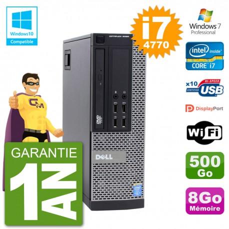 PC Dell 9020 SFF Intel i7-4770 RAM 8Go Disque 500Go Graveur DVD Wifi W7