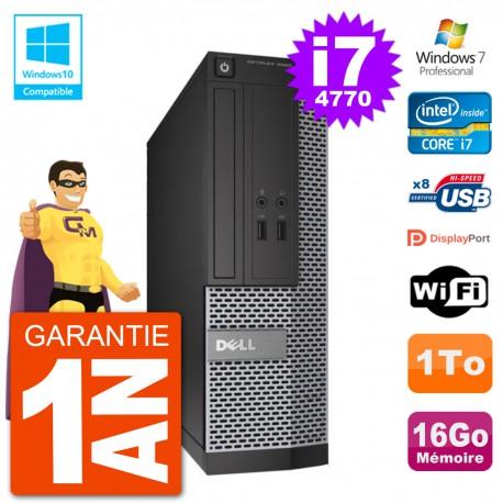 PC Dell 3020 SFF Intel i7-4770 RAM 16Go Disque 1To Graveur DVD Wifi W7