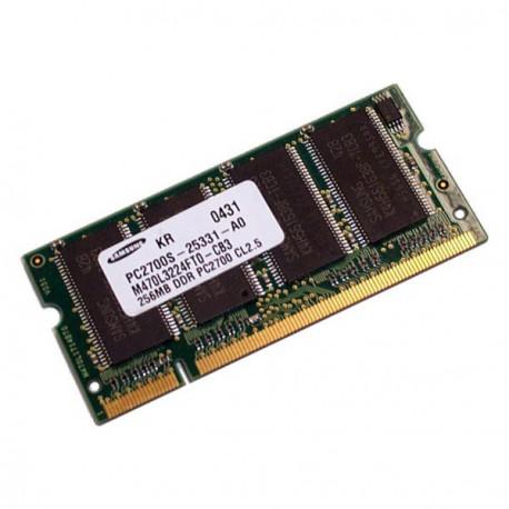 256Mo RAM PC Portable SODIMM Samsung M470L3224FT0-CB3 DDR 333Mhz PC-2700S CL2.5