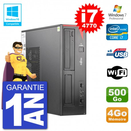 PC Fujitsu Esprimo E520 DT i7-4770 RAM 4Go Disque 500Go Graveur DVD Wifi W7
