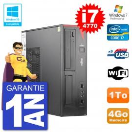 PC Fujitsu Esprimo E520 DT i7-4770 RAM 4Go Disque 1To Graveur DVD Wifi W7