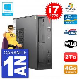 PC Fujitsu Esprimo E520 DT i7-4770 RAM 4Go Disque 2To Graveur DVD Wifi W7