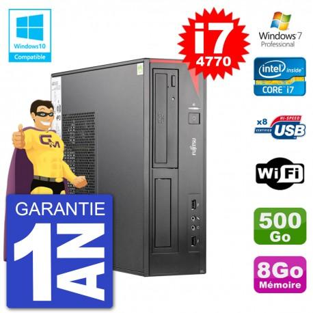 PC Fujitsu Esprimo E520 DT i7-4770 RAM 8Go Disque 500Go Graveur DVD Wifi W7