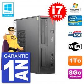 PC Fujitsu Esprimo E520 DT i7-4770 RAM 8Go Disque 1To Graveur DVD Wifi W7